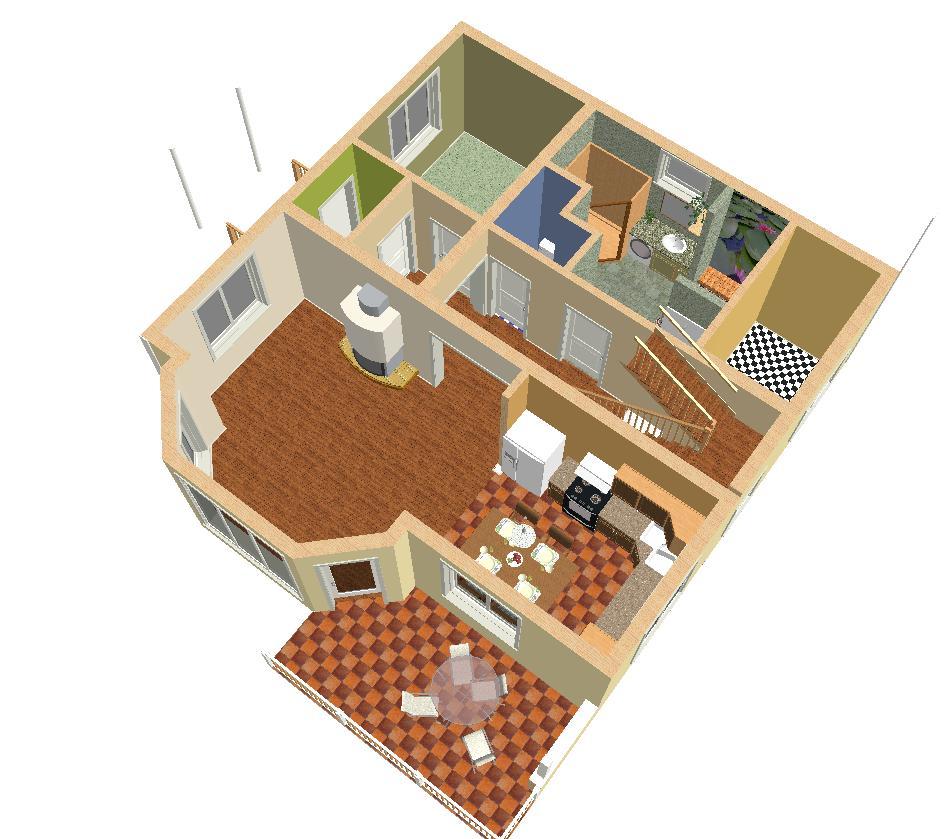 фото планировки дома 10 на 12